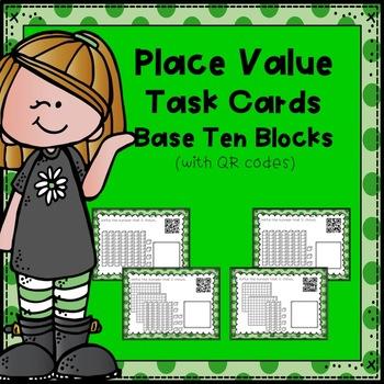 Place Value Task Cards:  Base Ten Blocks