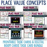 Place Value Task Cards Bundle (Digital Boom Cards and Prin