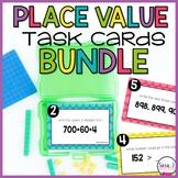 Place Value Task Cards Bundle (Paper and Digital Version)
