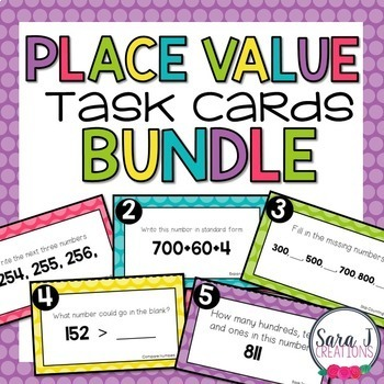 Place Value Task Cards Bundle