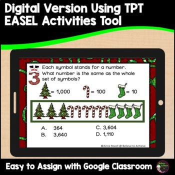 Place Value Task Cards- Christmas theme