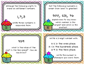 Place Value Task Cards (Common Core Aligned)