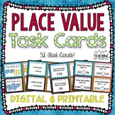 Place Value Task Cards | Distance Learning | Google Classroom