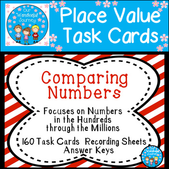 Place Value Task Cards Comparing Numbers