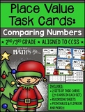 Place Value Task Cards: Comparing Numbers {Christmas}
