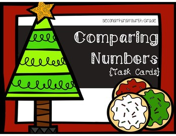 Place Value Task Cards- Comparing Numbers {Christmas Theme}