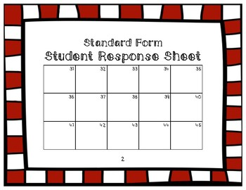 Place Value Task Cards- Converting to Standard Form {Christmas Theme}
