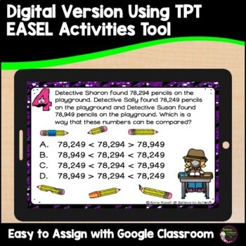 Place Value Task Cards- Detective theme