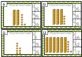 Place Value Task Cards - Differentiated