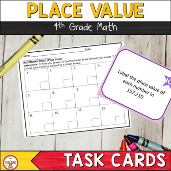 Place Value (Task Cards & Exit Ticket)