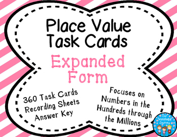 Place Value Task Cards Expanded Form