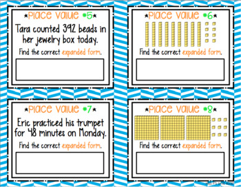 Place Value Task Cards - Expanded Form