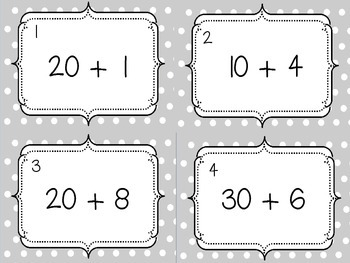 Place Value Task Cards Expanded Form Tens and Ones