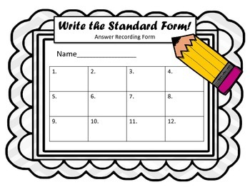 Place Value Task Cards.  Expanded Form to Standard Form.  Math Center