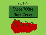 Place Value Task Cards Fall Theme - CCSS 2.NBT.1