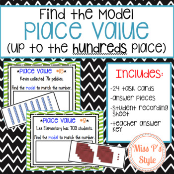 Place Value Task Cards - Find the Model