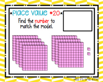 Place Value Task Cards - Find the Number