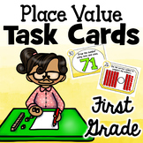 Place Value Task Cards - First Grade