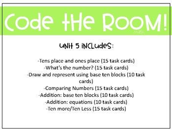 Place Value Task Cards (First Grade) QR Codes