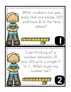 Place Value Task Cards Grade 1-2