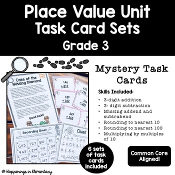 Place Value Task Cards Grade 3