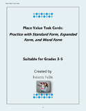 Place Value Task Cards Grades 3-5