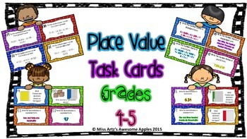 Place Value Task Cards - Grades 4-5