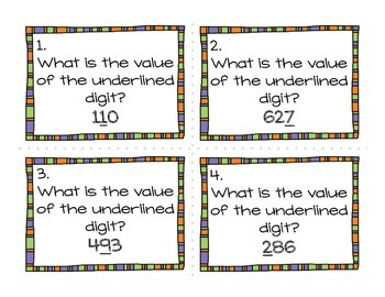 Place Value Task Cards (Hundreds Place)