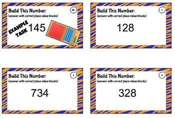 Place Value Task Cards (Hundreds-Tens)