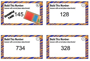 Place Value Task Cards (Hundreds-Tens)