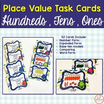 Place Value Hundreds And Tens And Ones Task Cards