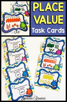 Place Value Task Cards : Place Value Hundreds And Tens And Ones