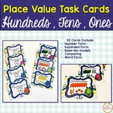 Place Value Task Cards 2nd Grade : Place Value Hundreds And Tens And Ones