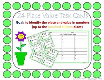 Place Value Task Cards- Hundred Billions
