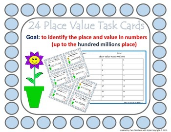 Place Value Task Cards - Hundred Millions