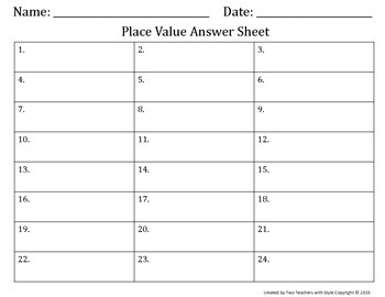Place Value Task Cards- Hundred Thousands