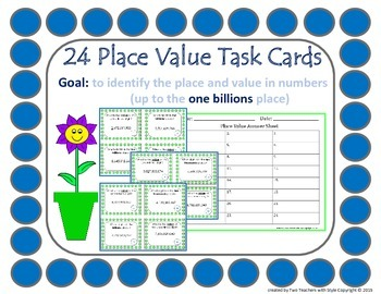Place Value Task Cards- One Billions Place