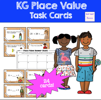 Place Value Task Cards KG / First Grade