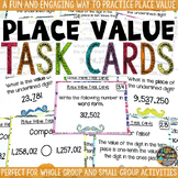 Place Value Task Cards & Game Math Review