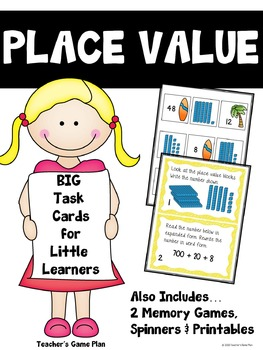 Place Value Task Cards, Memory Games & Printables