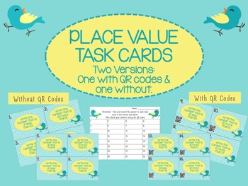 Place Value Task Cards Mental Math 10 20 30 more than less