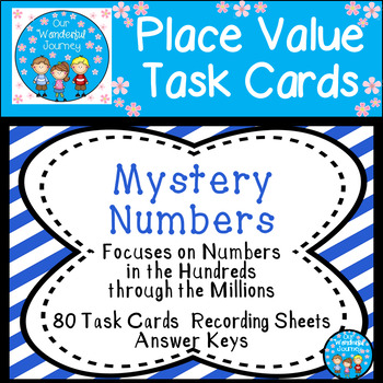 Place Value Task Cards Mystery Numbers