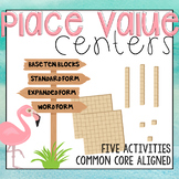 Place Value Centers: Three Digit Numbers - Five Activities Included