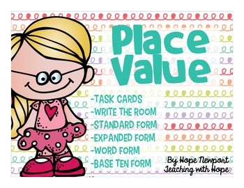 Place Value Task Cards Number Form