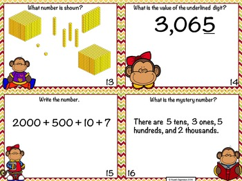 Place Value Task Cards: Thousands