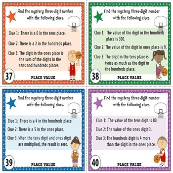 Place Value Task Cards {Ones, Tens, and Hundreds}