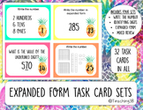 Place Value Task Cards - Pineapple Theme