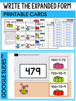 Place Value Task Cards - Place Value to Hundreds Place Activities