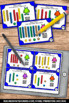 Place Value Task Cards with QR Codes & MAB Blocks 1st Grad