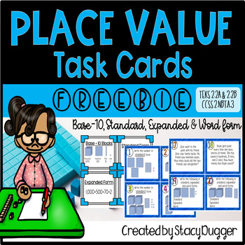 Place Value Task Cards Freebie